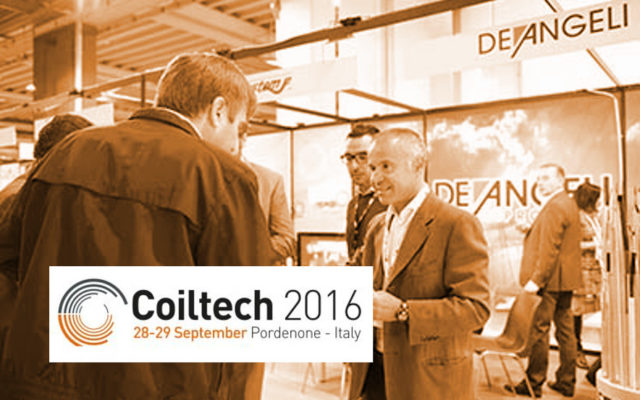Coiltech 2016 from 28th to 29th September in Pordenone