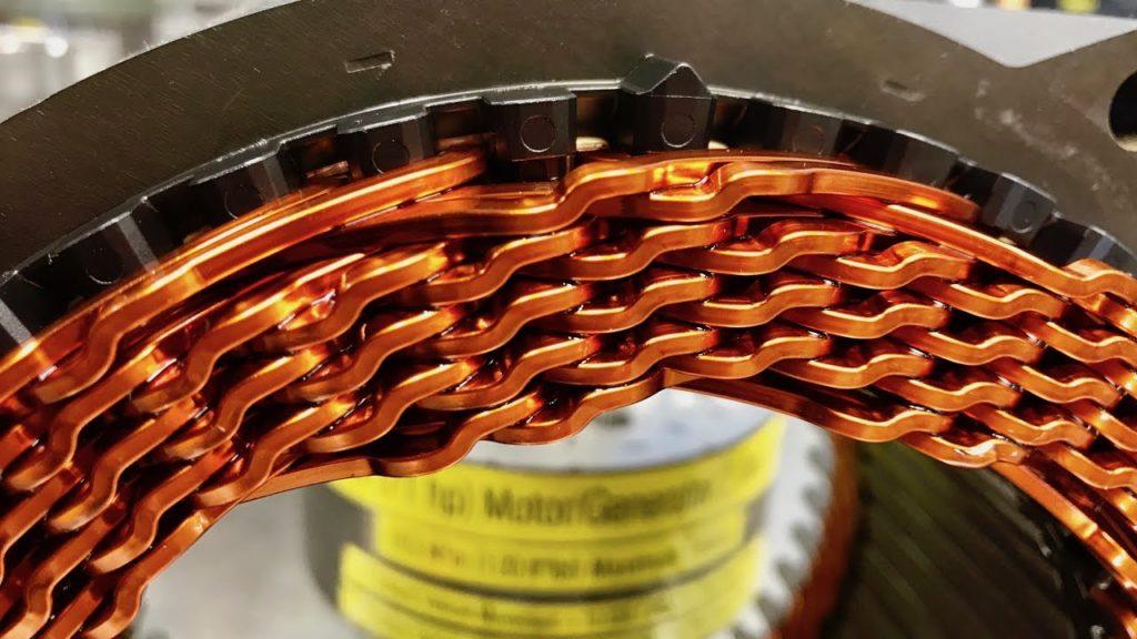 Rotor enamelled automotive