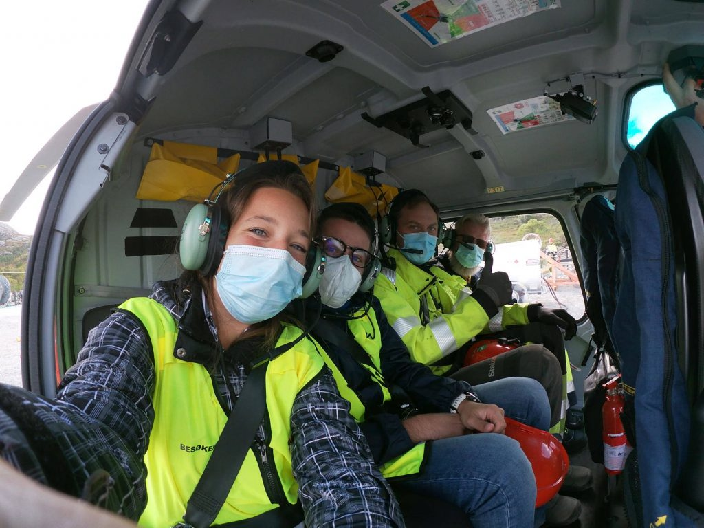 Flying in helicopter norway stavanger De Angeli prodotti